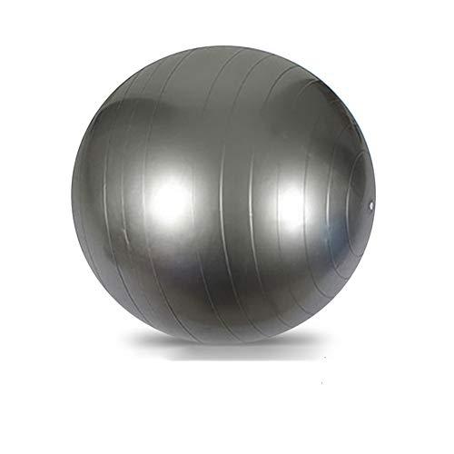 Kingboo - Pelota de ejercicio (45 – 75 mm, con bomba de aire gratuita, para fitness, yoga, pilates, equilibrio, estabilidad, color gris suizo 45 cm)