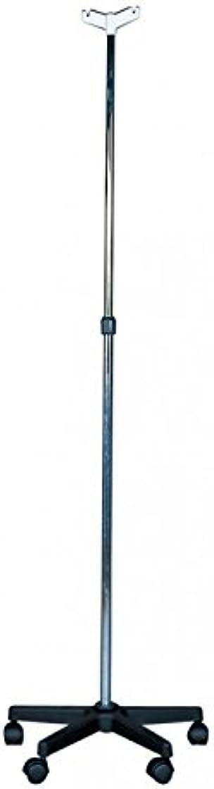 asta per flebo doppio gancio per flebo - struttura in acciaio e base in plastica termigea jtg-as1
