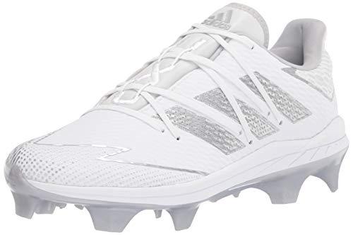 adidas Men's FV9407 Baseball Shoe, White/Silver/White, 10