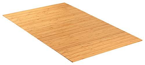 Green'n'Modern rutschfeste robuste Badematte aus Bambus   Bambusmatte als Badteppich im Badezimmer   Holz Duschvorleger hygienisch   Holzteppich als Fußbodenauflage   Bambusteppich als Badmatte