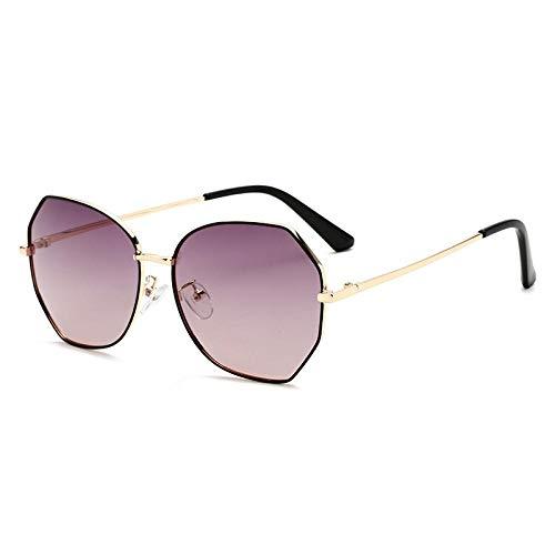 HPPSLT Estilo Vintage Redondo Gafas Sol polarizadas para Hombres y Mujeres, Gafas de Sol Bicolor Gafas de Sol polarizadas Gafas de Sol Mujer-2