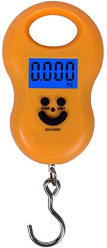 HSJ WYQ- Escala portátil de Resorte de Pesca electrónica, Mini Caja de polipasto de Escala electrónica Peso 50kg Escala de Primavera Peso
