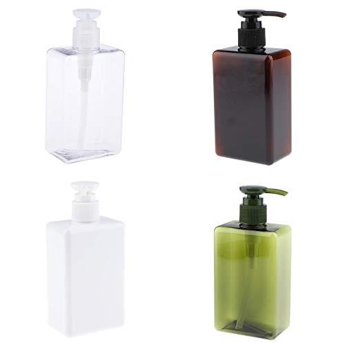SDENSHI 4 Pcs Vide Lotion Pompe Bouteilles Shampooing Distributeur De Savon Pour Salle De Bain 280 Ml
