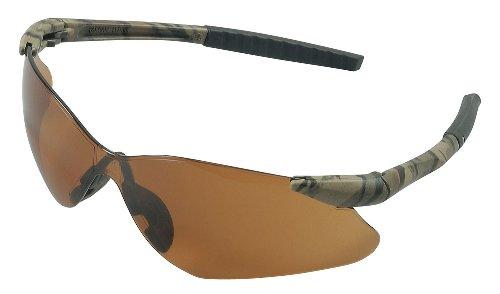 Jackson Safety 20472 V30 Nemesis VL Safety Eyewear, Bronze Polycarbon Anti-Scratch Lenses, Camouflage Frame