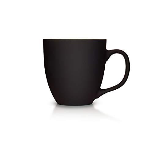 Mahlwerck XXL Jumbotasse, Große Porzellan-Kaffeetasse mit Matter Soft-Touch Oberfläche, in matt schwarz, 450ml