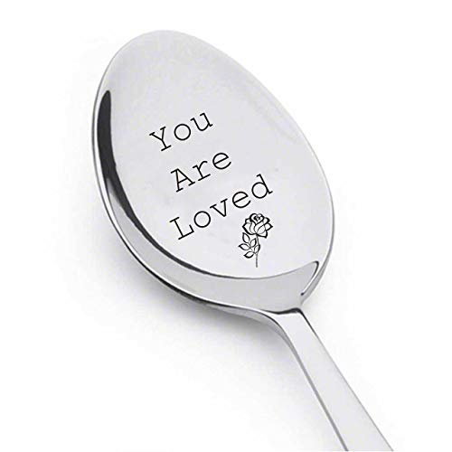 Coffee Spoon Or Tea Spoon Your Are Loved Spoon With Rose - Engraved Spoon - Special Gift - Special occasion spoon