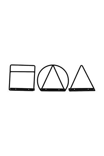 House Doctor Range-revues Loge Asstd. 3 Motifs, Noir, 26 x 11 cm