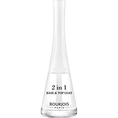 Bourjois - Esmalte de uñas 2 en 1 1 segundo 01 Base & Top Coat 9 ml
