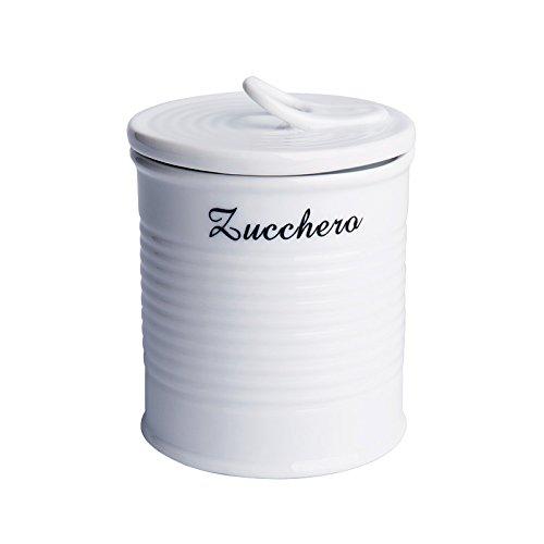 Excelsa Pot à Sucre en Porcelaine Blanc 0,5 l