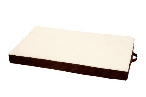 Karlie Ortho Bed, Eckig Liegebett, braun 118 x 72 x 12 cm