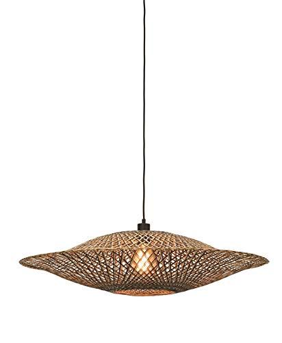 Bali Good&Mojo - Lámpara de techo (bambú, 87 x 20 cm)