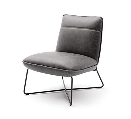 Robas Lund Sessel, Grau, BxHxT 68x84x80 cm
