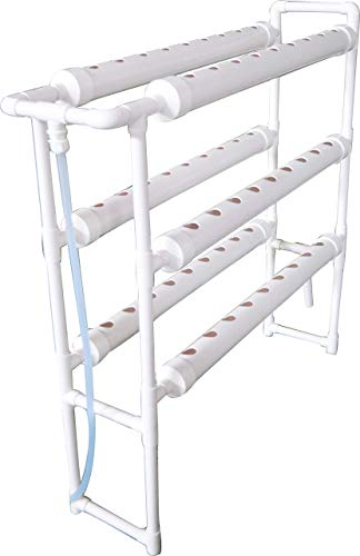 INTBUYING Hydroponic 54 Sites Grow Kit Grow System for Leafy Vegetables with 110V Pump Vertical-(6 Pipes 3 Layers 2 Rows)