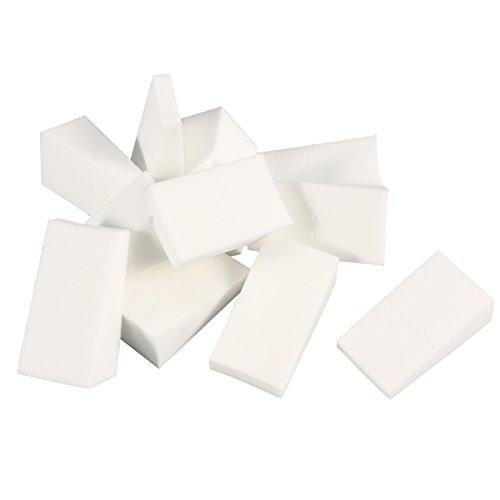 Lot de 24 éponges triangulaires Frcolor - Pour visage et ongles - Pour application de maquillage et démaquillage
