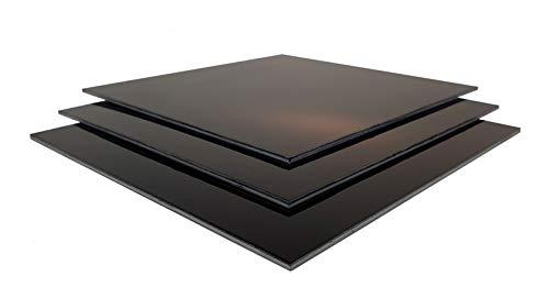 Dilite Plaque composite en aluminium Noir 3 mm Différentes découpes (3,0 mm, 1220 x 745 mm)