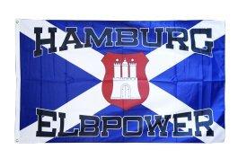 Flaggenfritze® Fanflagge Hamburg Elbpower 90x150cm