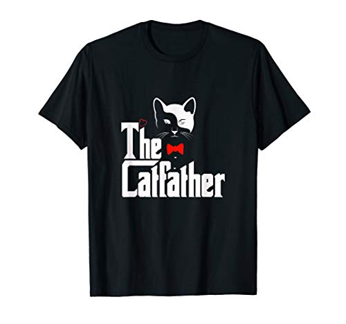 Herren The Catfather Shirt, Funny Cat Dad Lover Gift T-Shirt
