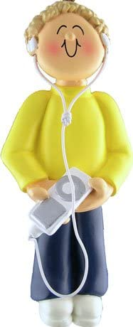 Ornament Central OC-108-MBL Male Blonde 100% quality warranty Figurine Max 68% OFF Player MP3