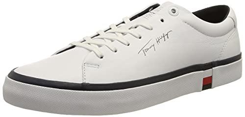 Tommy Hilfiger Corporate Modern Vulc Leather, Zapatillas Hombre, White, 42 EU