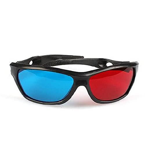Ruluti Visión Simple Red-Azul Gafas Anaglifo para Juego De Película DVD De Vídeo Extra De Actualización Estilo Hombres Mujeres