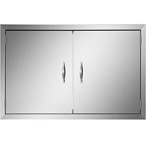 Mophorn Tür, für den Außenbereich, für die Küche, 76,2 x 53,3 cm, doppelwandige Konstruktion, Edelstahl, Unterputzmontage für Grillinsel, 76,2 x 53,3 cm