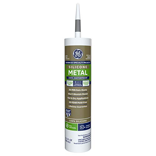 GE Sealants & Adhesives GE5050 Advanced Silicone 2 Sealant, 10.1oz, Metallic Gray