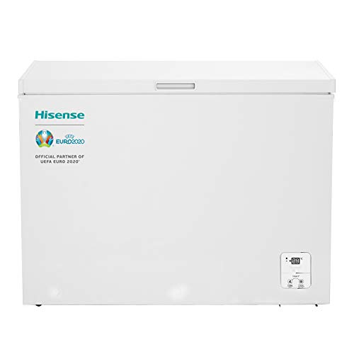 Hisense FT325D4BW2 - Arcón Congelador Horizontal Clase A++, Color Blanco, Capacidad Neta 250 L con 84 cm Alto, Función Dual Convertible en Modo Frigorífico, Cesta con Asa, Bajo Nivel Sonoro