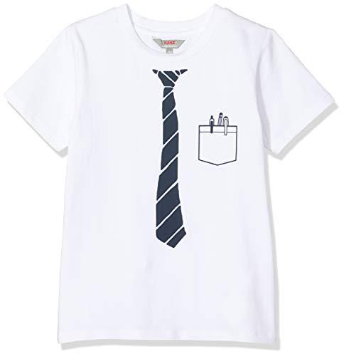 Kanz Jungen 1/4 Arm T-Shirt, Weiß (Bright White 1000), 104