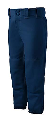 Mizuno Adult Women's Belted Low Rise Fastpitch Softball Pant, Navy, Medium