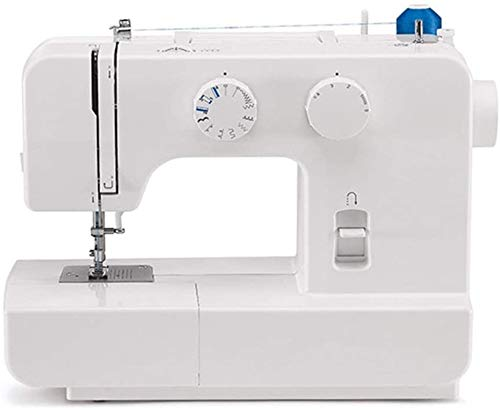 YAOSHUYANG Multifunction Sewing Machine Electric Handheld Embroidery Overlock Quick Multi-Function Entry-Level Sewing Machine Small Desktop Househol (Color : White, Size : 360X170X280mm)