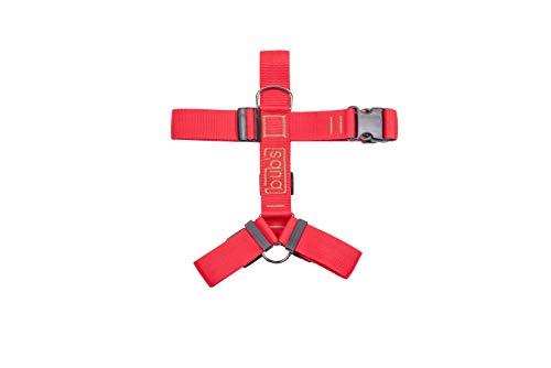 bub's Not Pull - arnés para Perro Grande Sistema Anti tirón (Comprobar tamaño: Cuello 43 a 74 cm Pecho 59 a 94 cm) Color Rojo