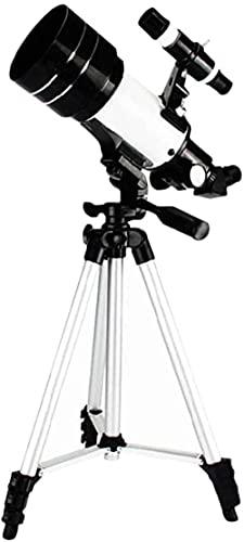 JeeKoudy Telescopio astronómico para Adultos para niños Telescopio de Viaje de refracción astronómica con trípode y Adaptador de teléfono para observar la Luna y los Planetas
