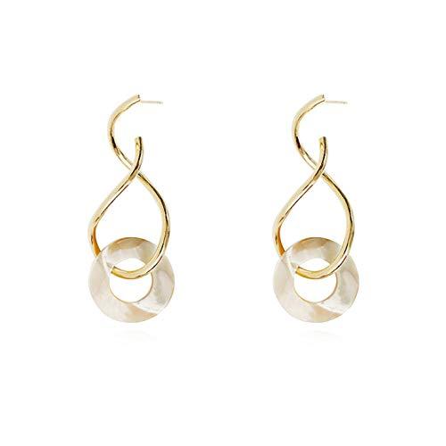 Lege Vrouwen Oorbellen Meisjes Geometrische spiraal Metalen Oorbellen metalen Oorbellen Sieraden