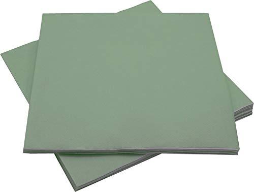 Unbekannt Servietten Tischdeko Grün Salbei Papierservietten 40 x 40 cm Partydeko Hochzeit Geburtstag 12 Stück