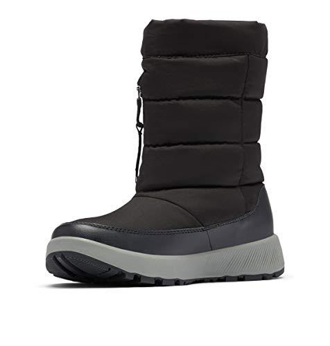 Columbia Women's PANINARO Omni-Heat Pull ON Snow Boot, Black/Stratus, 7