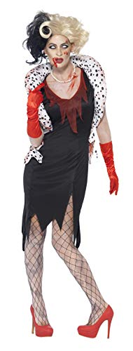 Smiffys Costume dame diabolique zombie, avec robe, boléro, gants & collier