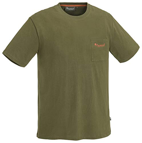 Pinewood Fishing T-Shirt Homme, Olive, XL