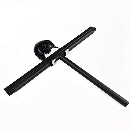 YLiansong-home Escobilla de Goma para Ducha Limpiador de Vidrio de Vidrio de Acero Inoxidable Limpiador de Ventanas Cepillo de Limpieza de baño para Ventana de Vidrio (Color : Black, Size : Oe Size)