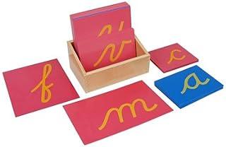 Kid Advance Montessori Lower Case Cursive Sandpaper Letters w/ Box