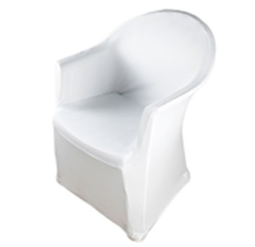 Stoff-Kollektion Stuhlhusse für Stühle mit Armlehne Weiß