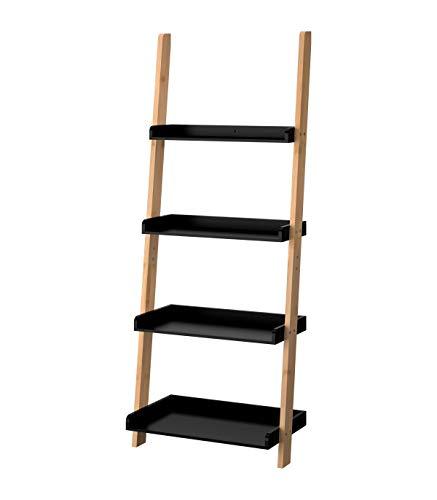 Casâme Ladderrek, bamboe, 4 niveaus, zwart
