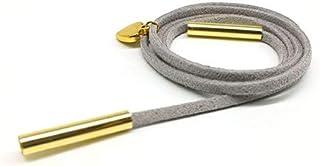 Women's Silver Metal Bracelet with Gold Pendants