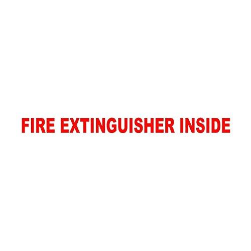 Wild Dingos LLC Fire Extinguisher Inside 1x12 Trucking Business Vinyl Decal Sticker Red