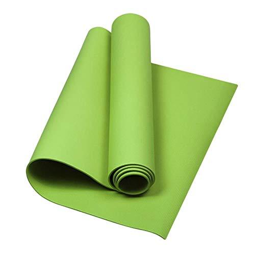 Gouen Yoga Pilates Mat Fitness Gym Kussen Pad 4mm Antislip Elastische Band Mat Tas voor Indoor Oefening Body Building Afvallen Sporten, Yogamat Groen