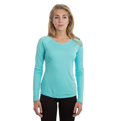 Vapor Apparel Damen Atmungsaktives UPF 50+ UV Sonnenschutz Langarm Funktions T-Shirt XX-L Wasser Blau