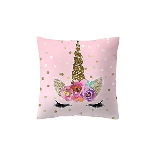 MissW Funda De Almohada Decorativa con Estampado Lindo De La Serie Rosa con Cremallera Sin Núcleo De Almohada Funda De Cojín Lavable Adecuada para Sofá Coche