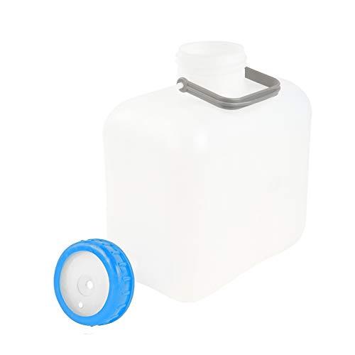 Comet Weithalskanister 10 Liter weiß Bügelgriff Stopfen DIN 96 + Schraubdeckel DIN 96