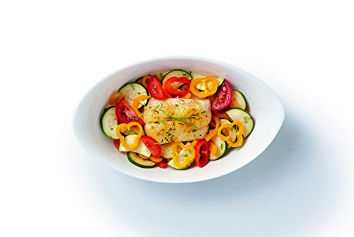 Luminarc - Plat ovale Blanc Smart Cuisine Carine 250°C - Plat à Four en Verre Innovant - Léger et Extra-Résistant - Nettoyage Facile - Fabrication en France - Dimensions 25x15 cm