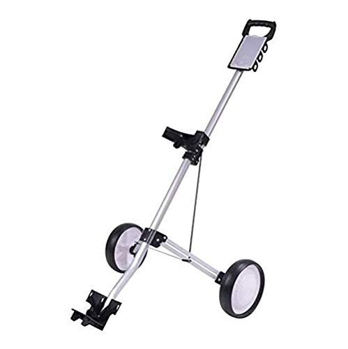 HLR Golftrolley Zieh Golfcarts 2 Räder Pull Golf Cart Schieben, Swivel Folding Leichte Golf Rollwagen, Schnell Falt- und höhenverstellbar Faltbarer Trolley Golf Push Cart Golf