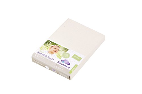 Träumeland tt05009 – Draps ajustables pour berceau, 100% coton, 35 x 78 cm, couleur blanc